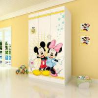 Wholesale E0 Grade Kids'/Children's Furniture, 3-door Wardrobe with Printed Cartoon Pictures from china suppliers