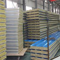 Wholesale sound insulation metal sheet rock wool sandwich roof tile 5950 x 950 x 50mm from china suppliers