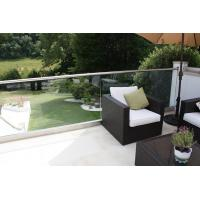 Wholesale Exterior aluminum u base channel glass railing for balcony use from china suppliers