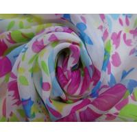 Buy cheap Lean Textile 100% Polyester Printed 75D Cheap Chiffon Fabric for lady dress from wholesalers