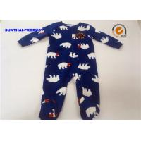 Wholesale Little Polar Applique Baby Footie Coverall 100% Polyester Micro Fleece Zipper Closure from china suppliers