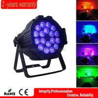 Wholesale Indoor dmx 32bit dimming aluminum housing dj 18*10w 4in1 rgbw led par light from china suppliers