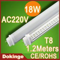 Wholesale SMD3528 T8 18W 1800lm AC110V 220V CE & ROHS Pure white 4ft 1200mm led tube from china suppliers