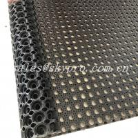 Wholesale Anti Slip / Anti Fatigue Interlocking Porous Rubber Floor Mat , Thickness 8mm - 50mm from china suppliers
