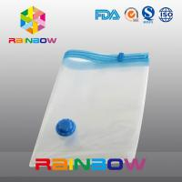 China Transparent Vacuum Seal Bag for Food / Apparel / Quilt Storage With Zipper And Valve on sale