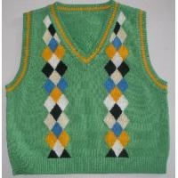 Wholesale Boy′s Argyle Vest, Cotton Sweater Knitted Vest (SFY-A087) from china suppliers