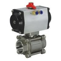 """Wholesale 1/4"""" - 4"""" Pneumatic Ball Valves Water Oil Gas Acid SS Ball Valve -20℃ - 190℃ from china suppliers"""