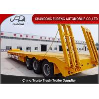 Wholesale 60ton Hydraulic Lowbed Low Deck Tri-axles Low Loader Cargo Semi Truck Trailer from china suppliers