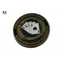 Wholesale Bronze Plating Poker Chip Challenge Coins Customised Copper Heavy Weight from china suppliers