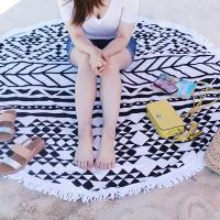 Buy cheap Big Size Microfiber Round Printed Tassel Beach Towel Cheap Beach Towel Summer beach  towel from Wholesalers