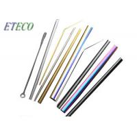 Wholesale Blue Whisky Drinking Stainless Steel Reusable Straws High Polish Lead Free from china suppliers