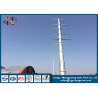 Wholesale Zinc Coated Electrical Tubular Steel Poles For Transmission Line Project Q345 from china suppliers