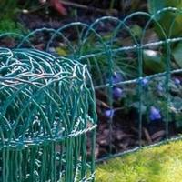 pvc coated garden wire mesh fence/border fences factory
