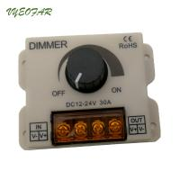 China 30A LED Dimmer Switch Remote Control 12V 24V 720W For Led Single Strip Knob Controller on sale