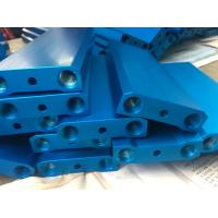 Wholesale Blue Anodized CNC Precision Components 6082T5 Aluminum T Slot Framewith M6 Holes from china suppliers