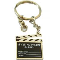 China Personalized fashion zinc alloy  metal keychains with offset printing for Souvenir gifts on sale