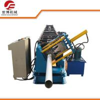 Wholesale Seamless Round Gutter Downspout Roll Forming Machine / Steel Pipe Making Machine from china suppliers