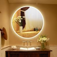 China Usa Touch Sensor Switch Wall Makeup Mirror With Led Lights For Villa , Circular Led Mirror on sale