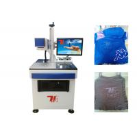 China T - Shirt Co2 Laser Marking Machine , Laser Printing Machine For Clothes on sale