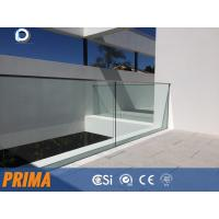 Wholesale Outside 12mm glass aluminum u channel tempered glass railings from china suppliers