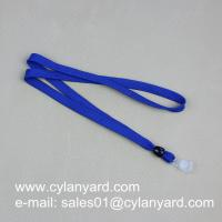 Polyester Office lanyard with badge plastic strap