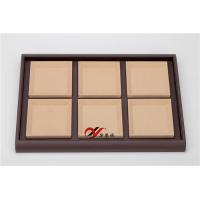 Buy cheap 6 Grid Removable Microfiber Pad Pu Leather Coverd Jewellery Display Tray from wholesalers