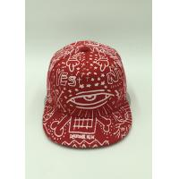 Buy cheap Red White Hip Hop Snapback Caps Floral Print Snapback Hat Flat Peaked from Wholesalers