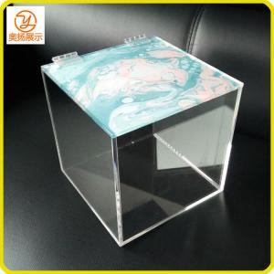 China Hot sale customized square acrylic box with lid acrylic storage box display box on sale