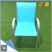 China Low price stackable sling chair popular colorful reclining beach garden chair,comfortable indoor outdoor leisure lounger on sale