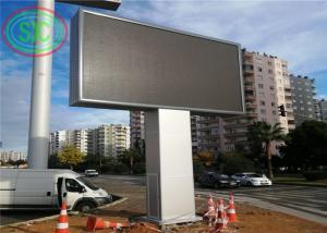 Wholesale Beautiful frame 1R1G1B Pitch 6mm Full Color Led Billboard with column beside road from china suppliers