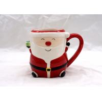 China Food Safe 3D Ceramic Mug Hand Painted 14 OZ Christmas Children Gifts Dolomite Material on sale