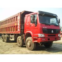 Howo 8 by 4 heavy duty dump truck 8 Meters Front Tipper 45 tons loading for construction / mining
