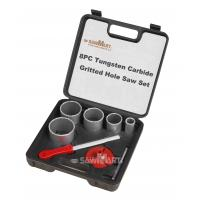 1-1/4 In. - 3-1/4 In. Carbide Grit Hole Saw Assorted Set 8 Pc