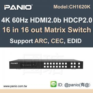 Wholesale True 4k HDMI Matrix 16 in 16 out Switch with 18 Gbps with ARC Function from china suppliers