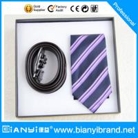 Wholesale Latest Popular Satin Fabric Printing Necktie Gift Set For Men from china suppliers
