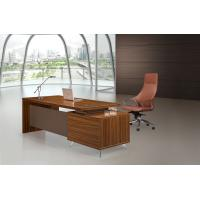 Wholesale Brown Executive Desk 200cm With Extention Modesty And Mobile Pedestal from china suppliers