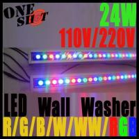 Wholesale High efficiency DC24V or AC85~265V 24W RGB IP65 LED wall washer with IR remote control from china suppliers