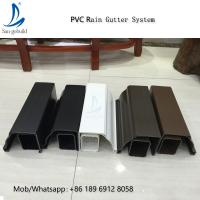 Quality High Quality Rain Drainage System Building Material Plastic PVC Rain Gutter System Downspout Fittings Rainwater Gutters for sale