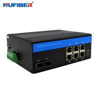 Wholesale ODM 6 Port Gigabit Switch With 2 Sfp , Din Rail Managed Switch from china suppliers
