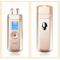 China 50/60Hz Microcurrent Facial Toner Machine , Galvanic Skin Machine Gold Color on sale
