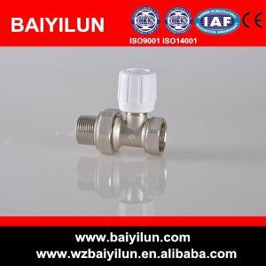 China dn15 brass straight manual radiator valve on sale