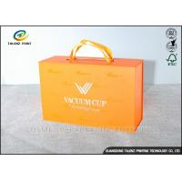 Wholesale Luxury Cardboard Jewelry Gift Boxes Customized Size With Ribbon Handles from china suppliers