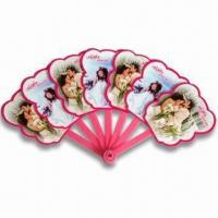 Wholesale Hand Fans, Customized Logo Printings are Accepted, Made of PP, Suitable for Promotional Purposes from china suppliers
