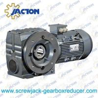 China 7.5HP 5.5KW Helical-Worm Gear Reducer gear motor with brake speed reducer Specifications on sale