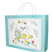 Wholesale Cartoon Printed Paper Bags With Handles , Custom Design Paper Bags from china suppliers
