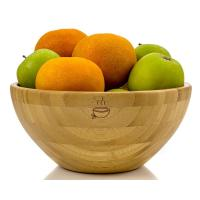 Wholesale Organic Handmade Bamboo Salad Set , Wooden Salad Serving Bowl 8 Inch X 4 Inch Diameter from china suppliers