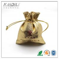 Wholesale Golden Satin Jewelry Pouch 7*8cm , Drawstring Jewelry Bags Button Closure from china suppliers