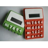 China Waterproof  Foldable Colorful 8 Digits Silicon Calculator For Promotion Gift on sale