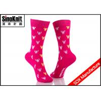 China Knitted Ladies colorful dress Socks / Customized Design Socks on sale