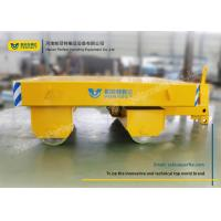 Quality Yellow Die Transfer Cart Towing Trailer Platform Table For Molds Plant for sale